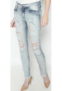 Jeans Vênus Destroyed - Azul Claro- Lança Perfumelança Perfume