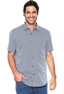 Camisa Aramis Manga Curta Menswear Xadrez Azul
