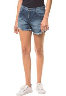 Shorts Jeans Five Pockets - Marinho - 34