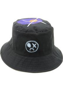 Chapeu Bucket Prorider Dark Face Preto Com Desenhos - Dkfbucket