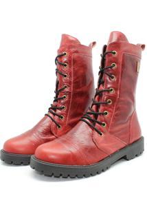 Bota Barth Shoes Stone Couro Parafina - Bordo
