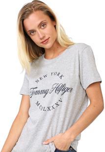 Camiseta Tommy Hilfiger Lívia Cinza