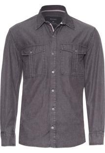 Camisa Masculina Black Denim Classic - Preto