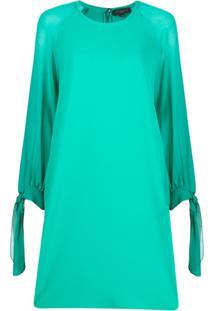 Antonelli Long-Sleeve Shift Dress - Verde