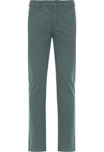 Calça Masculina Five Pockets Fio Tinto - Verde