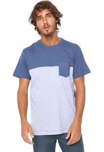 Camiseta Quiksilver Dc Cut Azul/Cinza