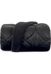 Edredom King Altenburg Blend Elegance Plush Imperfection - Preto Preto