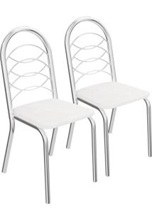 Jogo De Cadeiras Holanda Cromada 2 Peças 2C009Cr Crome