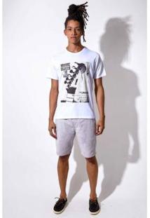 Camiseta Limits Laundry Music Makes Me High - Masculino-Branco