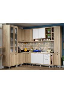 Cozinha Completa Multimóveis Com 10 Peças Sicília 5804 Argila/Branco