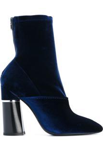 3.1 Phillip Lim Ankle Boot De Veludo - Azul
