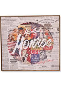 Quadro Em Canvas Colagem Marilyn Monroe 70Cm