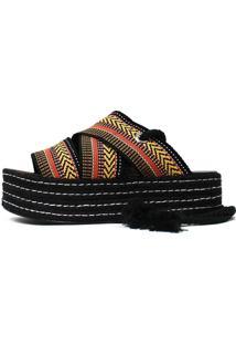 Sandália De Corda Damannu Shoes Bella Amarela