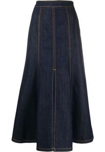 Kenzo Saia Jeans Longa - Azul