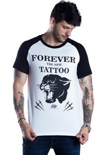 Camiseta Caráter Forever The New Tattoo Branca