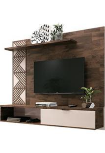 Painel Bancada Suspensa Para Tv Até 50 Pol. Grid Deck/Off White - Hb M