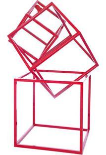 Luminaria De Chao Lampe Estrutura De Tubo De Ferro Cor Vermelho 0,90 Cm (Alt) - 54068 - Sun House