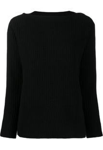 Calvin Klein Suéter Com Detalhe De Botão - Preto