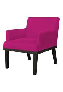 Poltrona Decorativa Para Sala De Estar E Recepçáo Beatriz Suede Pink - Lyam Decor