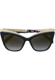 ... Moschino Eyewear Óculos De Sol Gatinho - Preto f5d477d087