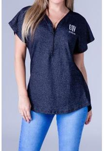 Camiseta Equivoco Oversized Lucy Feminina - Feminino-Cinza