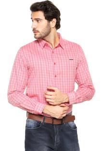 Camisa Sommer Fred Xadrez Rosa