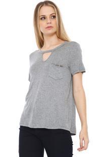 Camiseta Lança Perfume Bolso Cinza