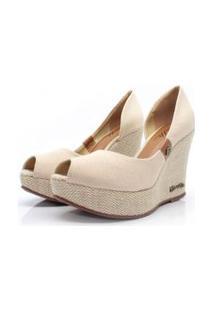 Scarpin Barth Shoes Noite Lona - Bege