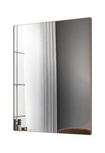 Espelho Decorativo Retangular Com Moldura Shine D09 Dourado - Mpozenat