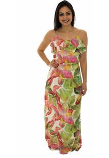 Vestido Capim Canela Longo Lancaster Floral