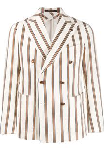 Tagliatore Striped Formal Blazer - Neutro