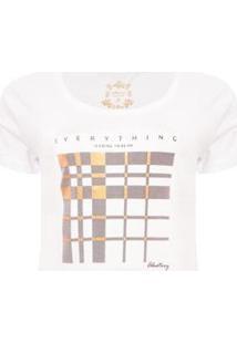 Camiseta Aleatory Bright Feminina - Feminino-Branco