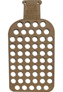 Quadro Porta Tampinhas D'Rossi 25X50 Bege