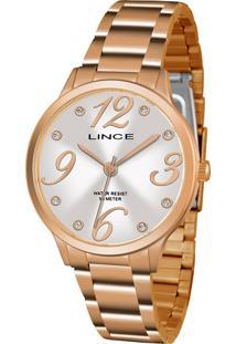 Relógio Lince Feminino Strass Analógico Dourado Lrrh136L-S2Rx - Kanui