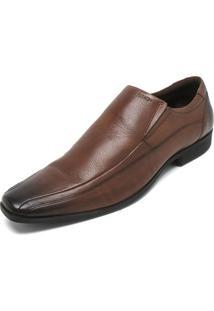 Sapato Social Couro Ferracini Recorte Marrom