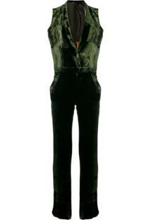 Each X Other Velvet Fluid Jumpsuit - Verde