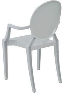 Cadeira Ghost Sofia Rivatti Com Braço Branco