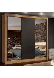 Guarda-Roupa Casal Madesa Lyon Plus 3 Portas De Correr Com Espelhos 4 Gavetas Marrom - Marrom - Dafiti