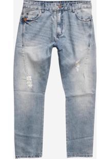 Calça John John Rock Linz Jeans Azul Masculina (Jeans Medio, 46)