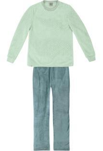 Pijama Longo Feminino Em Fleecê