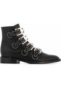Givenchy Ankle Boot Elegant Com Fivela - Preto