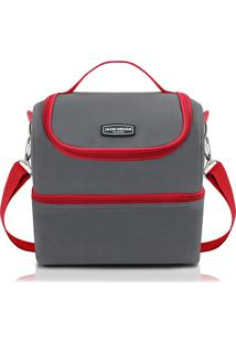 Bolsa Térmica Gg Cinza E Vermelha - Jacki Design