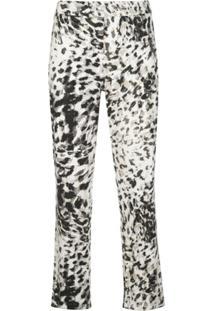 Natori Calça Cropped Animal Print - Cinza