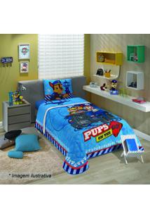 Edredom Patrulha Caninaâ® - Solteiro- Azul & Vermelholepper