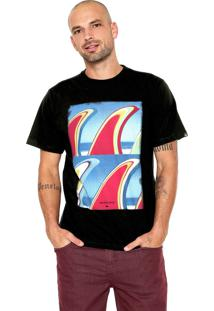Camiseta Quiksilver Fin Fanatic Preta