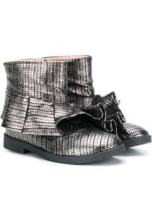 Florens Ankle Boot Metalizada - Prateado
