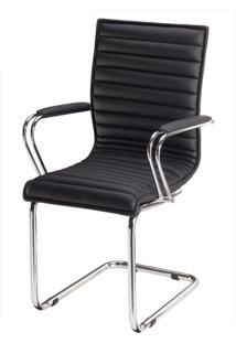 Cadeira Secretária Fixa Com Braço Estofado Perfectta Movelfar - Multistock