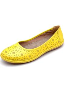 Sapatilha Clube Do Sapato De Franca Top Confort Amarela