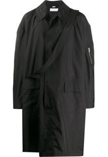Random Identities Trench Coat Oversized - Preto