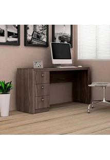 Mesa Para Computador Com 3 Gavetas Me4102 - Tecno Mobili - Carvalho